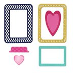 Sizzix - Life Made Simple Collection - Thinlits Die - Frames, Hearts and Tab
