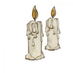 Sizzix - Tim Holtz - Alterations Collection - Bigz Die - Candlelight