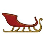 Sizzix - Tim Holtz - Alterations Collection - Christmas - Bigz Die - Sleigh Ride