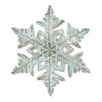 Sizzix - Tim Holtz - Alterations Collection - Christmas - Texture Fades - Bigz Die and Embossing Folder - Layered Snowflake