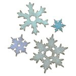 Sizzix - Tim Holtz - Alterations Collection - Christmas - Bigz L Die - Stacked Snowflakes
