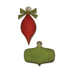 Sizzix - Tim Holtz - Alterations Collection - Christmas - Movers and Shapers Magnetic Die - Mini Retro Ornaments