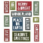 Sizzix - Tim Holtz - Alterations Collection - Christmas - Thinlits Die - Holiday Words - Block
