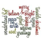 Sizzix Tim Holtz Alterations Script Holiday Words Thinlits Die