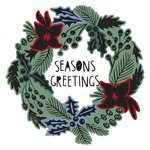 Sizzix - Tim Holtz - Alterations Collection - Christmas - Framelits Die and Repositionable Rubber Stamp Set - Seasons Greetings
