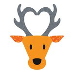 Sizzix - Fabi - Bigz L Die - Reindeer Head