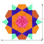 Sizzix - Fabi Bigz L Die - Rose Star, 9 Inch Assembled