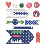 Sizzix - Me and You Collection - Thinlits Die - Arrow Base with Layering Shapes