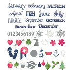 Sizzix - Me and You Collection - Thinlits Die - Calendar Months