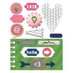 Sizzix - Me and You Collection - Thinlits Die - Notebook Base with Layering Shapes