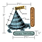 Sizzix - Tim Holtz - Alterations Collection - Framelits Die with Clear Acrylic Stamp Set - Celebrate