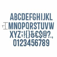 "Sizzix - Tim Holtz - Alterations Collection - Thinlits Die - 1"" Alphanumeric"