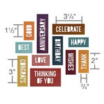 Sizzix - Tim Holtz - Alterations Collection - Thinlits Die - Celebration Words - Block