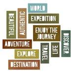 Sizzix - Tim Holtz - Alterations Collection - Thinlits Die - Adventure Words - Block