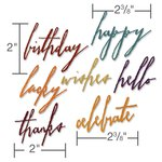 Sizzix - Tim Holtz - Alterations Collection - Thinlits Die - Handwritten Celebrate