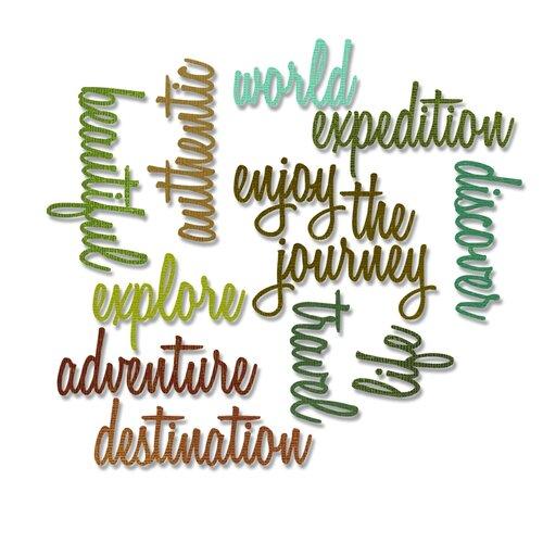 Sizzix - Tim Holtz - Alterations Collection - Thinlits Die - Adventure Words - Script