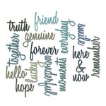 Sizzix - Tim Holtz - Alterations Collection - Thinlits Die - Script Friendship Words