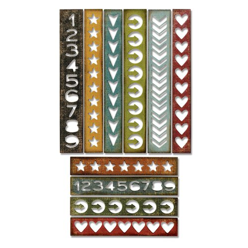 Sizzix - Tim Holtz - Alterations Collection - Thinlits Die - Shape Strips