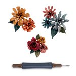Sizzix Tim Holtz Alterations Tiny Tattered Florals Thinlits Die