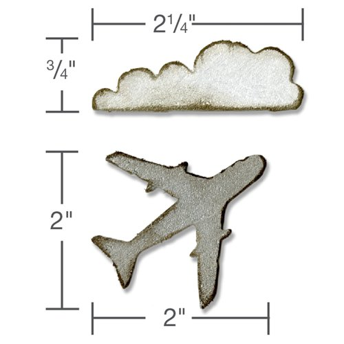 Sizzix - Tim Holtz - Alterations Collection - Movers and Shapers Magnetic Die - Mini Airplane and Cl