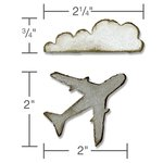 Sizzix - Tim Holtz - Alterations Collection - Movers and Shapers Magnetic Die - Mini Airplane and Cloud