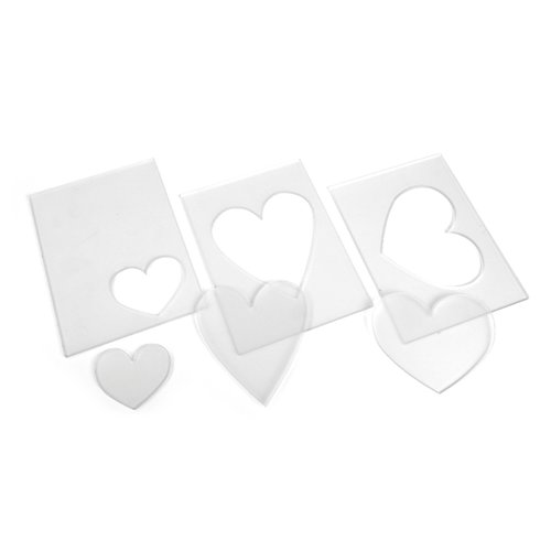 Sizzix - Tim Holtz - Alterations Collection - Embossing Diffuser Set 3 - Hearts