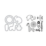 Sizzix - Framelits Die with Clear Acrylic Stamp Set - Baby