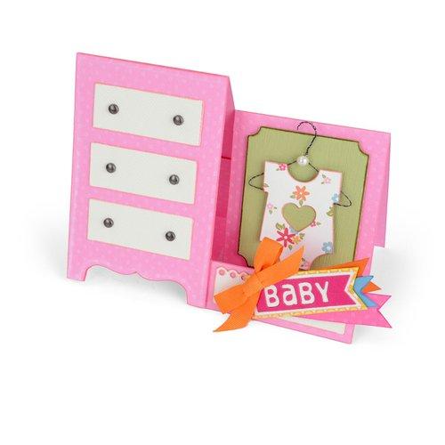 Sizzix - Thinlits Die - Card, Baby Dresser