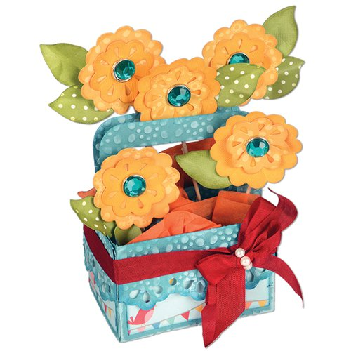 Sizzix - Bigz XL Die - Card in a Box, A2 Flower Basket