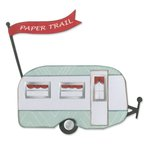 Sizzix - Vintage Travel Collection - Thinlits Die - Travel Trailer