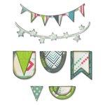 Sizzix - Vintage Travel Collection - Thinlits Die - Banners and Pennants