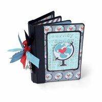 Sizzix - Vintage Travel Collection - ScoreBoards XL Die - Book, Passport