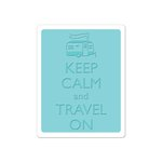 Sizzix - Vintage Travel Collection - Textured Impressions - Embossing Folder - Keep Calm and Travel On