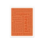 Sizzix - Vintage Travel Collection - Textured Impressions - Embossing Folder - Travel Words