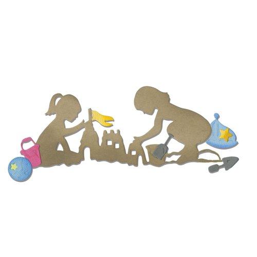 Sizzix - Thinlits Die - Children and Sandcastle