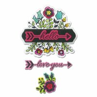Sizzix - Hello Love Collection - Framelits Die with Clear Acrylic Stamp Set - Love You