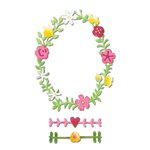 Sizzix - Hello Love Collection - Thinlits Die - Floral Wreath 2