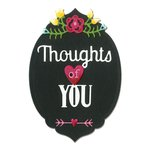 Sizzix - Hello Love Collection - Thinlits Die - Phrase, Thoughts of You
