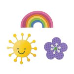 Sizzix - Doodlebug - Thinlits Die - Flower, Rainbow and Sun
