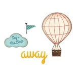 Sizzix - Jillibean Soup - Framelits Die with Clear Acrylic Stamp Set - Hot Air Balloon