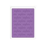 Sizzix - Jillibean Soup - Textured Impressions - Embossing Folder - Explore