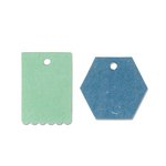 Sizzix - Echo Park - Originals Die - Tags, Hexagon and Scallop