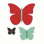 Sizzix - Echo Park - Bigz Die - Butterfly Trio