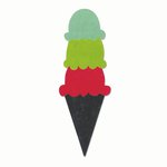 Sizzix - Echo Park - Bigz Die - Ice Cream Cone and Scoops 2