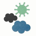 Sizzix - Echo Park - Bigz Die - Sun and Clouds