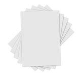 Sizzix - Inksheets - 4 x 6 Transfer Film - White - 5 Sheets