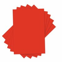 Sizzix - Inksheets - 4 x 6 Transfer Film - Red - 5 Sheets