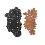 Sizzix Leather Jewelry Floral Necklace Movers and Shapers Dies