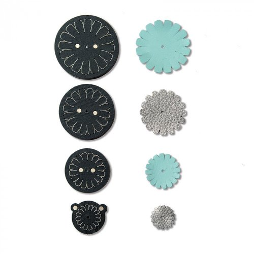 Sizzix - Leather Jewelry Collection - Movers and Shapers DIe - Daisy Stack