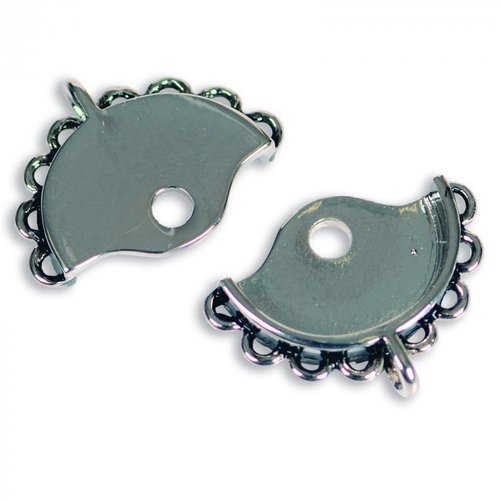 Sizzix - Leather Jewelry Collection - Findings - Small Bracelet Clasp Connector - Silver